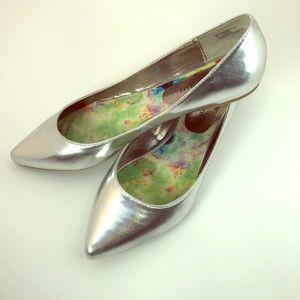 Madden Girl Silver Ballet Flats